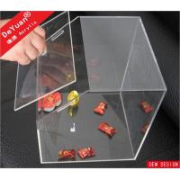 Large Clear 3mm Thick Custom Acrylic Storage Container Box Products Manufactures