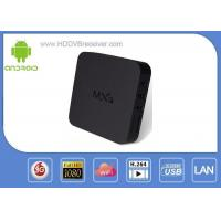 Quad Core MX3 4K Android Smart TV Box With Reset Key 8 - Core GPU Manufactures