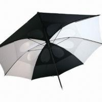 Double Layer Golf Umbrella with Fiberglass Shaft, Rubber Handle and Nylon Fabric Manufactures