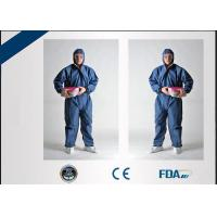 China Tear Resistant Disposable Protective Wear , Flame Retardant Disposable Coveralls on sale
