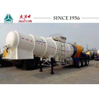 Heavy Duty 3 Axles Acid Tanker Trailer High Tensile Carbon Steel Body Material Manufactures