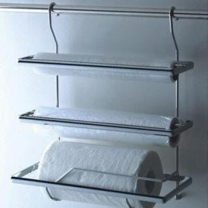 China Paper Towel Holder, Triple Paper Towel Rack, Roll Paper Rack, Towel Holder, Hanging Rack on sale
