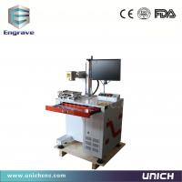 Fiber Laser Marker Gold / Chrome  / Jewellery / Brass Machine 20w 30w With Rotating System Raycus Fiber Laser Manufactures