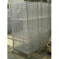 China Mobility Chrome Wire Security Carts, Tools Storage Logistics Trolley on sale