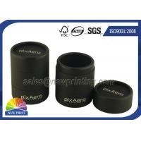 Personalized 3 Pieces Black Rigid Paper Cans Packaging Fancy Cylinder Gift Boxes Manufactures