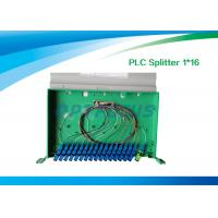 China High Reliability Fiber Optic Splitter 1 In 16 Out / 1260nm 1650nm PLC Splitter 19'' on sale