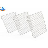 Stainless Steel Wire Mesh Rack , Cooking Roasting Cooling Wire Mesh Sheet Manufactures