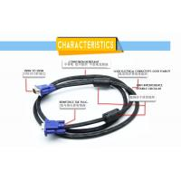China VGA 3+6 connect VGA CABLE Male to Male 15Pin on sale