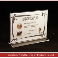 Horizontal Double Sided,Stand Up Acrylic Sign Holder Manufactures