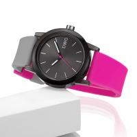 China Beautiful Waterproof Silicone Band Watch Large Dial For Mid - Student on sale