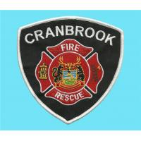 China Embroidered Fire-fighting and rescue crest, embroidery fire rescue badges, uniform crests on sale