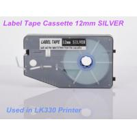 Buy cheap Ferrule lettering Label Maker Tape 12mm for electric installation , Silver from wholesalers