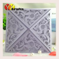 Best Selling Light Purple Folded Wedding Invitation Cards Design Manufactures
