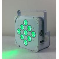 180W 9 LED Wireless Battery Flat Par Light , Battery Powered Led Stage Light Manufactures