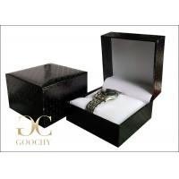Water Cube Plastic Watch Box / Wrist Watch Gift Box Black Outside Manufactures