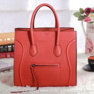 Celine Luggage Phantom Bag Pebbled Leather Orange Manufactures
