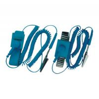 Professional Electrical Equipment ESD Wrist Strap With Wire , Rubber And Alloy Material Manufactures