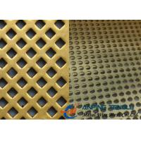 Brass Perforated Metal Mesh for Decoration & Filter, With High Strength Manufactures