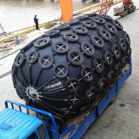 China Rubber Pneumatic Marine Fender Dock Defense Boat Fender With Tyre To Vessel Mooring / Moor on sale