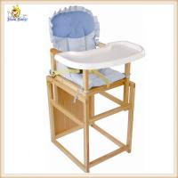 China Useful Wooden Baby Feeding Chair And Table With Safety Belt on sale