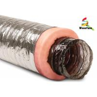 Air conditioning Fire Resistant Insulated Aluminum Flexible Ducting , Insulated Vent Ducting Manufactures