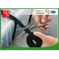 Hook and loop gripping hook & loop cable ties in black , Silk printing Manufactures