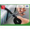 Hook and loop gripping hook & loop cable ties in black , Silk printing for sale