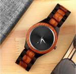 elegant hot sales wooden watch boxes cases wood strap waterproof unisex wood
