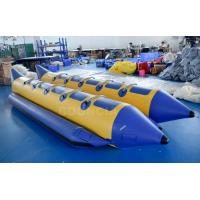 10 Persons Double Tubes Inflatable Banana Boat With Commercial Grade PVC Tarpaulin Manufactures