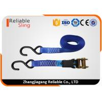 1 x15' Polyester Rubber Grip Ratchet Tie Down Strap 1500 LBS Capacity Cargo Ratchet Straps
