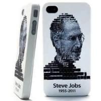 Classical Durable custom white Steve Jobs TPU skin cases for protecting iPhone 4 / 4G / 4s Manufactures