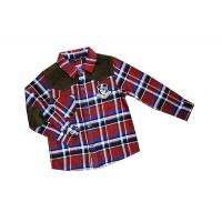 Fathion Red, Black, Green Lapel 4 - 15 Year Kids Plaid Shirts, check printing shirts Manufactures