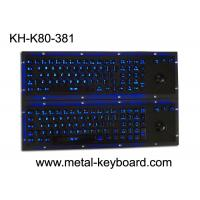 Illuminant waterproof SS Industrial Metal Keyboard with Trackball  pointing device Manufactures