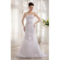 China Popular Strapless Mermaid Romantic Lace Wedding Gowns with Beads , Ivory on sale