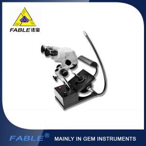 China Generation 1st  Swing arm type Gem Microscope With F15 binocular lens with side light fiber lighting on sale