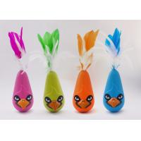 Bird Shaped Design Wobble Cat Toy Non Toxic Material With Natural Feathers Manufactures