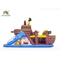 Non - Toxic Outdoor Sports Games Blow Up Obstacle Course  , Durable PVC Pirate Boat Manufactures