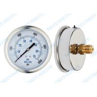 "4"" Stainless steel case crimp ring hydraulic oil pressure gauge fillable Manufactures"