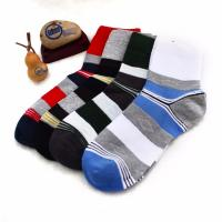 Wholesale OEM striped cotton leisure socks for men Manufactures
