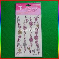 China Non-toxic Temporary Glitter Face Tattoos on sale