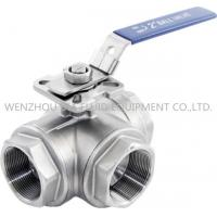316 CF8M 3 Way Sanitary Ball Valve With Casting Body , 1-1 / 2 Inch Ball Valve Manufactures