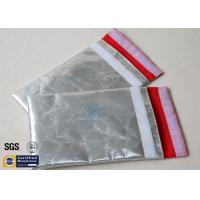 Silver Fireproof Document Bag 1022℉ No Itchy Smooth Fiberglass Cloth Cash Pouch Manufactures