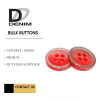 Quality Clothes, Polyesters Button & Accessories Bulk Apparel Colorful for sale
