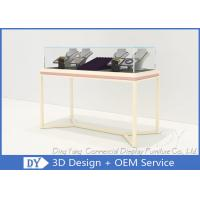 Pre Assemble Wood Glass Jewelry Showcases Fixtures For Jewelry Shop Display Manufactures