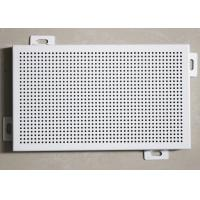 Decorative Perforated Aluminum Wall Panels 300 X 600 with DIA 4 mm Punch Holes Manufactures