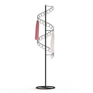 Freestanding Spiral 32 Ring Metal Scarf Hanger Manufactures