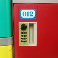 China Stylish Appearance ABS Plastic Lockers With Stainless Steel Coin Locks on sale