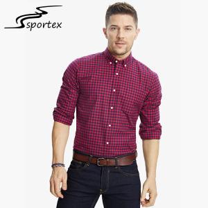 China Long Sleeve Slim Fit Cotton Shirts Washed Technics Anti Shrink Design on sale