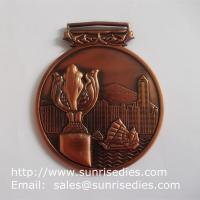 Quality 3D embossed medals and medallions, personalized metal medal with ribbon lace for sale