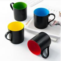 certification SGS/CE No.9910 for 2018 new items style custom 45% Ashes bone china black colors coffee mug Manufactures